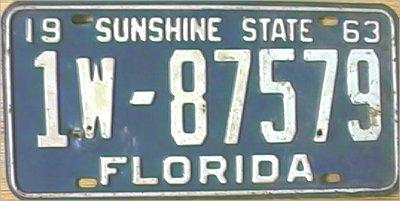 ... Florida 1963 Passenger Medium Heavy ...  sc 1 st  Florida PL8s & Florida Plates: Florida Collection